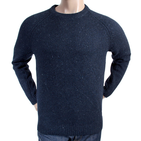 Carhartt mens navy heather anglistic knitwear sweater