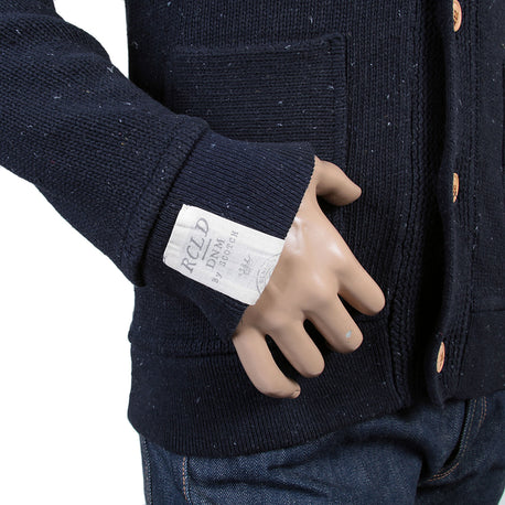 Scotch & Soda mens recycled denim buttoned cardigan