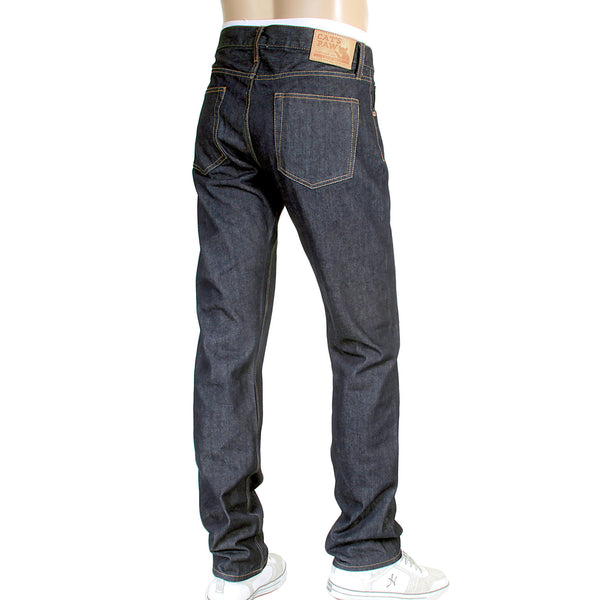 Cats Paw One Wash Selvedge Denim Jeans in Navy for Men