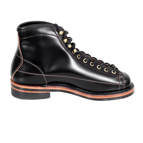 Lone Wolf Mens Black Leather Lace Up Wireman Work Boots