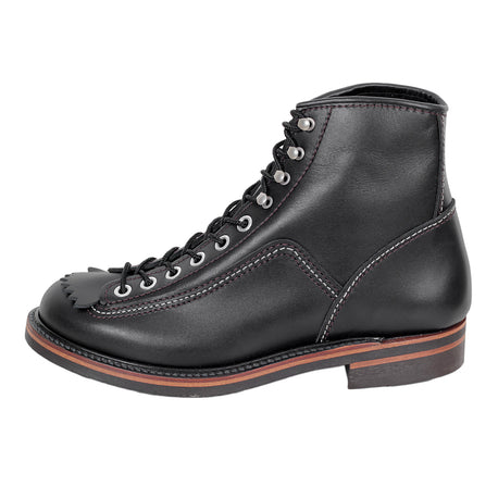 Lone Wolf Mens Black Leather Carpenter Work Boots
