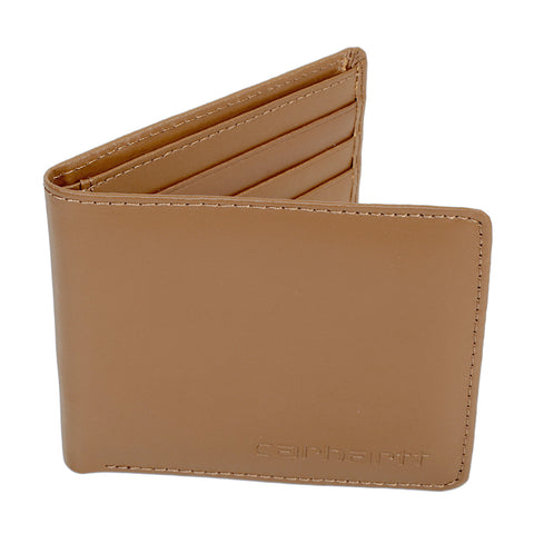 Carhartt mens hamilton brown leather wallet