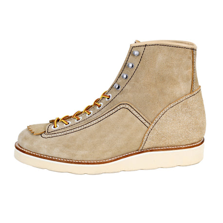 Lone Wolf Mens Beige Suede Lace Up Hunter Work Boots