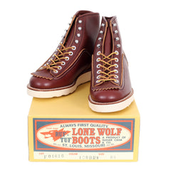 Lone Wolf Mens Brown Leather Goodyear welted US Hunter Work Boots