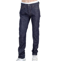 Sugar Cane Denim Non Wash Slim Fit Straight Leg Navy Jeans