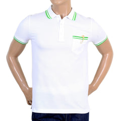 Versace Versus white men's piquet polo shirt