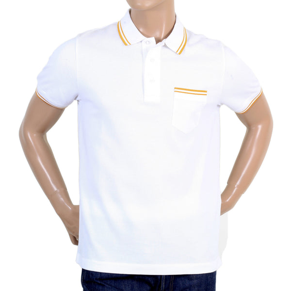 White Versace polo shirt 100% Cotton