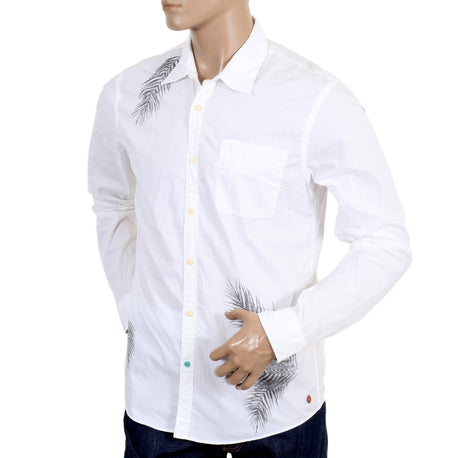 Scotch & Soda Men's white long sleeve shirt