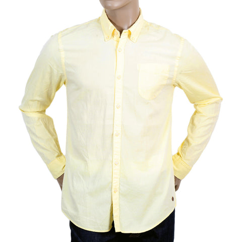 Scotch & Soda Men's yellow regular fit shirt