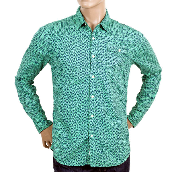 Scotch & Soda men's printed regular fit shirt