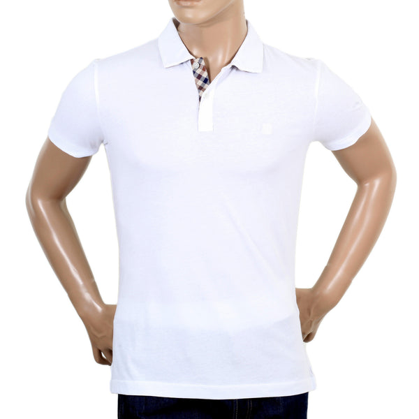 Aquascutum White Polo with Club Check - Kitmeout