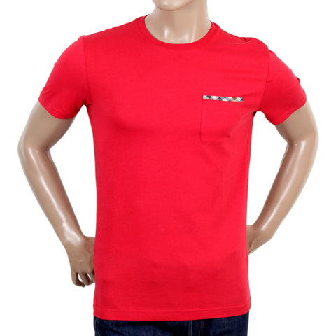 Aquascutum Mens Red Crew Neck t shirt - Kitmeout