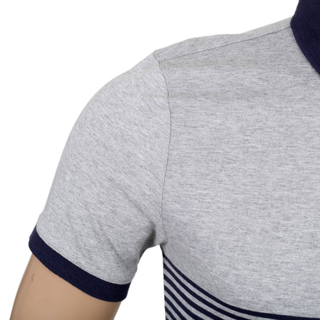 Aquascutum Striped Navy Polo Shirt - Kitmeout
