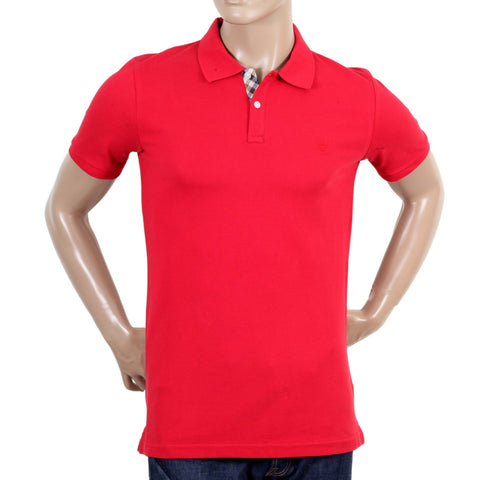 Aquascutum Cotton Red Polo Shirt