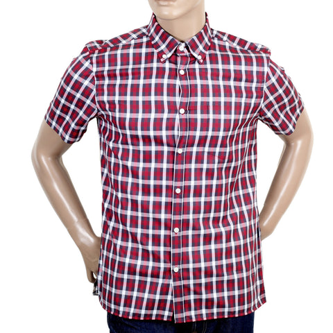 Aquascutum Red Stretch Cotton Mens Shirt - Kitmeout