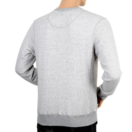 Grey Cotton Crew Neck Sweatshirt by Descente - Kitmeout