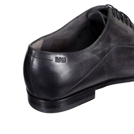 Hugo Boss Shoes Light Washed Black Leather Lace Up Firlo Shoe - Kitmeout