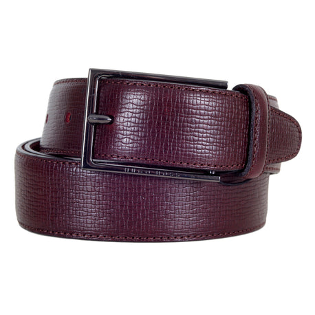 Dark Mahogany Red Hugo Boss Belt