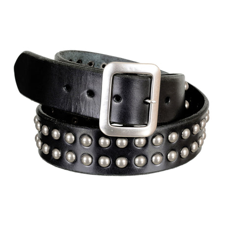 Sugar Cane Garrison Leather Belt in Black