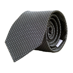 Giorgio Armani Patterned Silk Tie in Dark and Light Grey