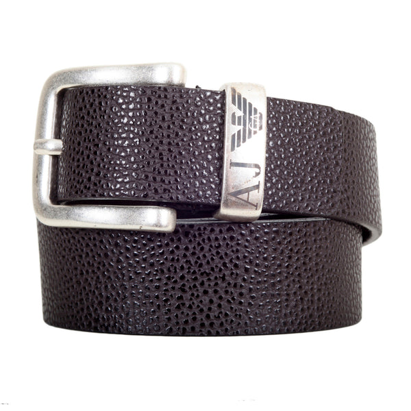Armani Brown Belt with silver Buckle - Kitmeout