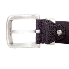 Armani Brown Belt with silver Buckle