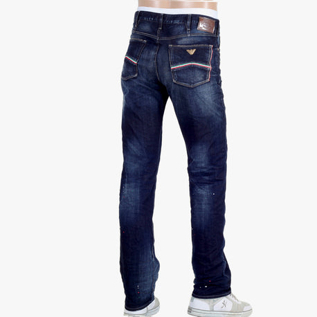 Armani Jeans Washed and Lived In J91 Mens Denim Jeans with Fading - Kitmeout