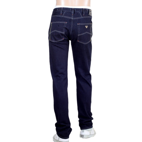 Armani Goldenblue Luxury Edition Jeans. Coloured Selvedge Trim