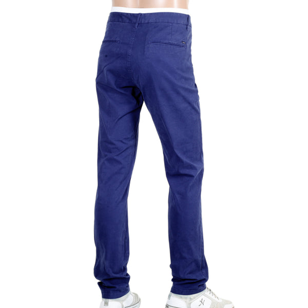 Scotch and Soda Regular Slim Fit Stuart Cobalt Blue Chino - Kitmeout