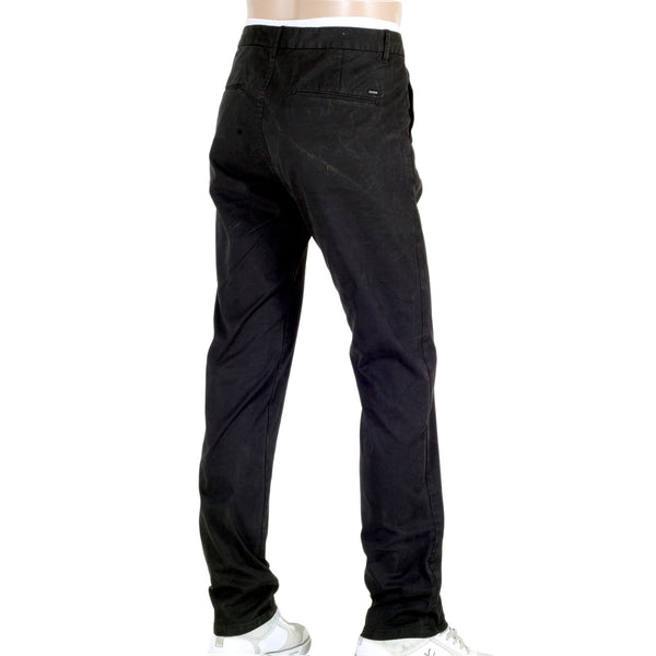 Scotch and Soda Black Chinos in Stuart Stretch Cotton - Kitmeout