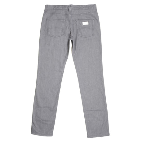 Giorgio Armani Regular Fit Grey Stretch Denim Jeans