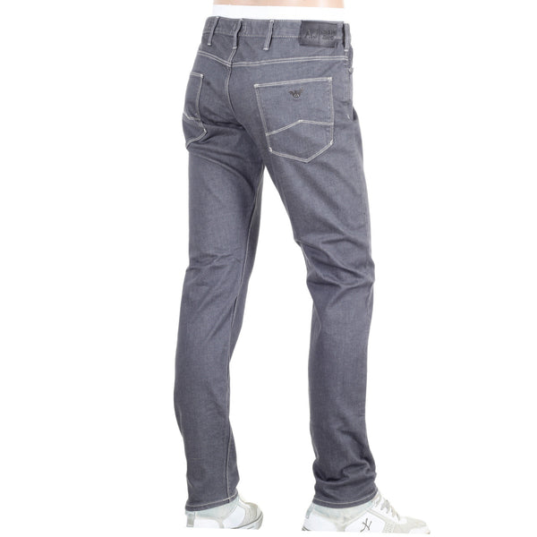 Armani Slim Fit Leg J06 Stretch Denim Grey Jeans - Kitmeout