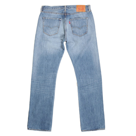 Levis Mens Iron Mount Jeans in Washed Light Blue with Original Fit