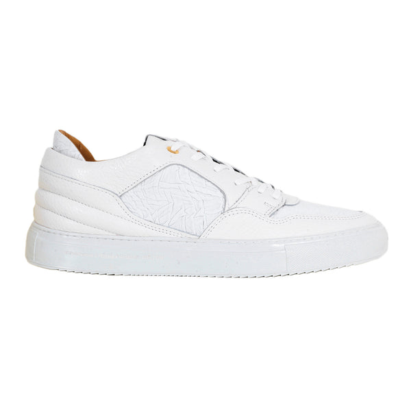 Android Homme White Sneakers for Men with Gold Branded Eyelets - Kitmeout