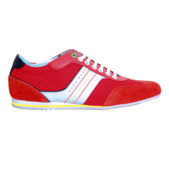 Hugo Boss Green Trainers in Bright Red Boss Sneakers - Kitmeout