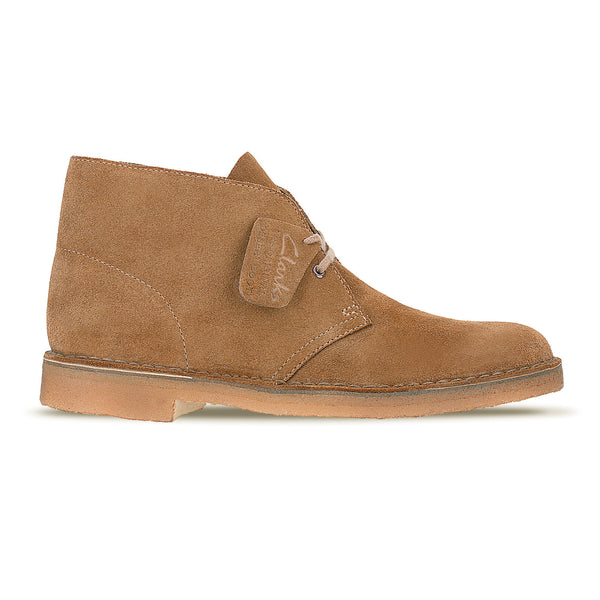 1950s Clarks Originals Desert Boots Cola Suede Upper and Crepe Beige Sole - Kitmeout