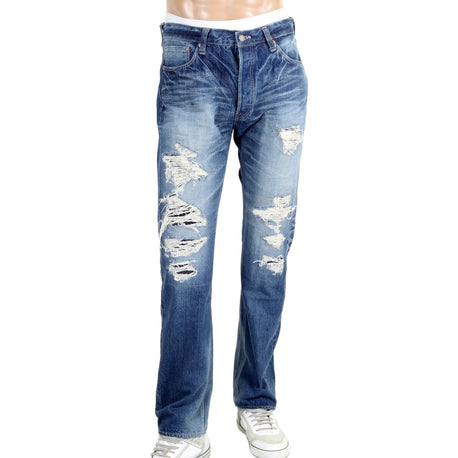 Sugar Cane Jeans 14 oz Denim 1 Star 10 Year Aged Wash Slim Fit Jeans - Kitmeout