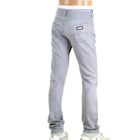 Armani Collezioni J06 Slim Fit Low Waist Narrow Leg Grey Stretch Denim Jeans