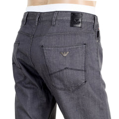 Slim Fit J06 Armani Mens Grey Denim Jeans