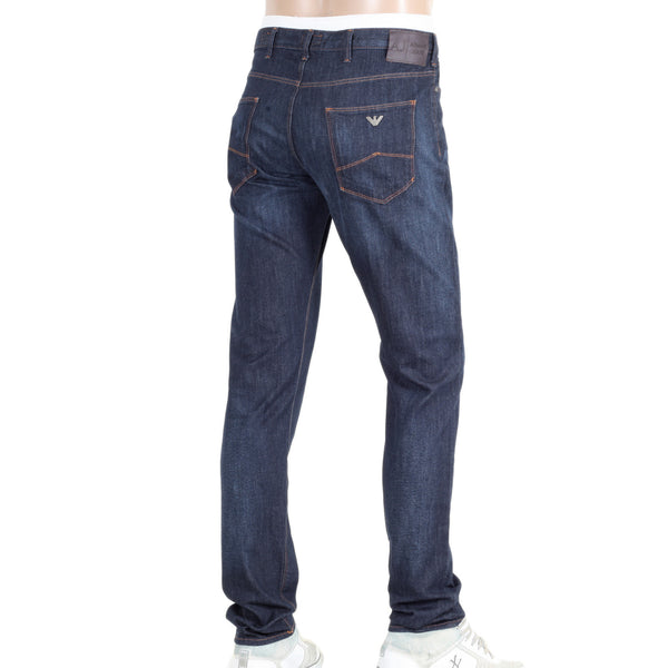 Armani J06 slim fit jeans. Slim Fit Dark Rinsed Stretch Blue Denim