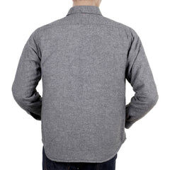 SugarCane Grey Wool Mix Quilted Overshirt with Round Tail