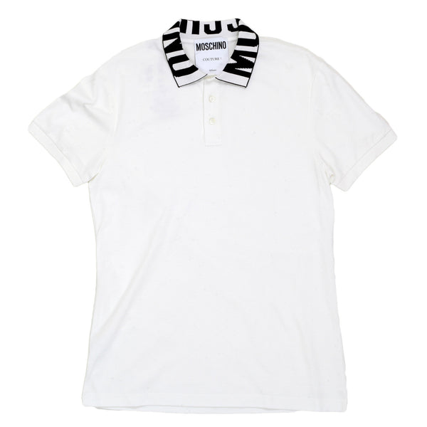 Moschino White Three-Buttoned Regular Fit Polo Shirt - Kitmeout