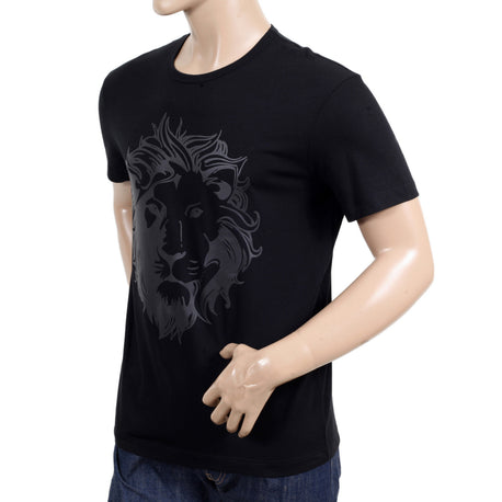 Versace Versus Mens Crew Neck Short Sleeve Regular Fit Black T Shirt