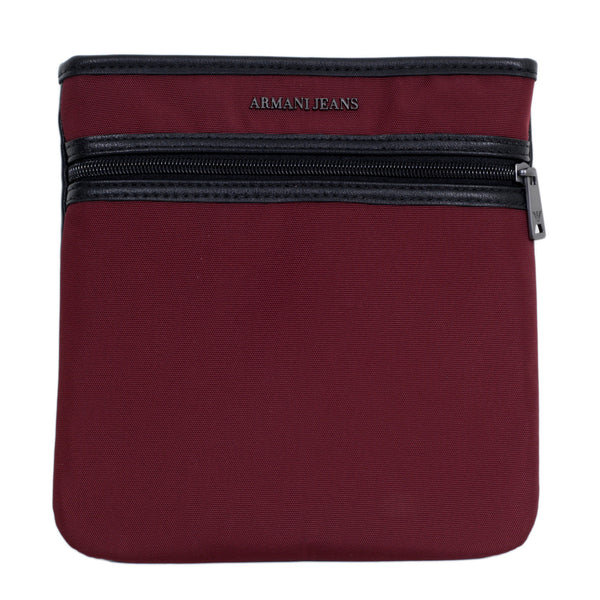 Armani Jeans Bordeaux and Black Bag metallic Armani Jeans logo