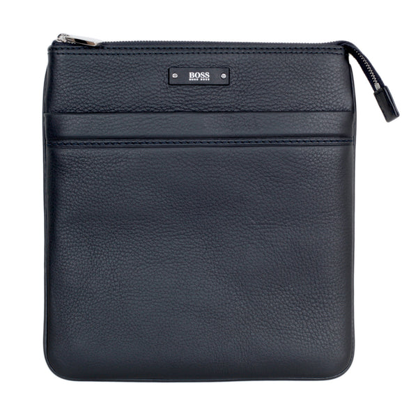 Hugo Boss Bag Top Zip Closure Traveller Bag in Black with Adjustable Strap - Kitmeout
