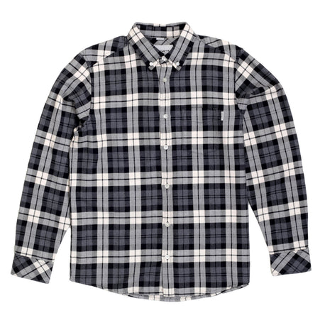 Carhartt Long Sleeve Regular Fit Cotton Heather Grey Baker Check Shirt