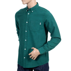 Carhartt Cotton Dalton Regular Fit Parsley Long Sleeve Shirt