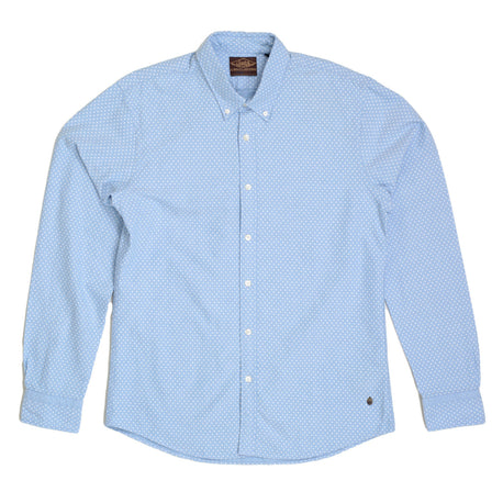 Scotch & Soda Shirts Long Sleeve Sky Blue Button Down Collar Shirt - Kitmeout