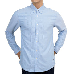 Scotch & Soda Regular Fit Sky Blue Diamond Polka Dot Shirt