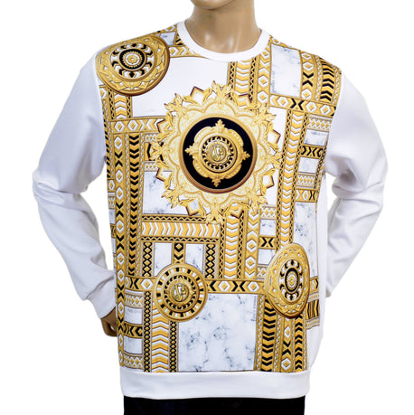 Versace Jeans White Sweatshirt With Printed Front - Kitmeout